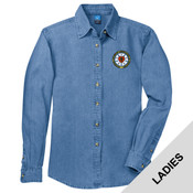 LSP10 - N124E003 - EMB - Ladies Long Sleeve Denim Shirt